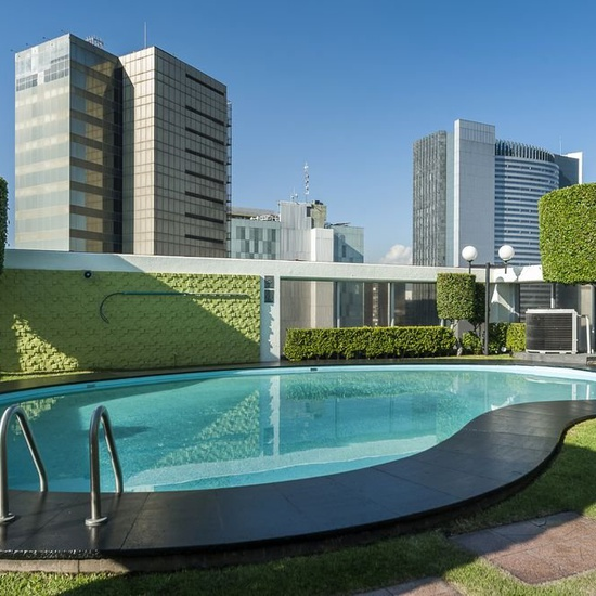 Swimming pool on the terrace casa blanca hotel mexico city